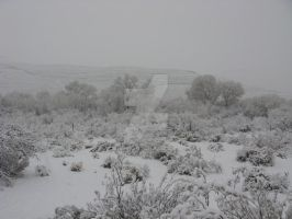 Red Rock White Out IV by southwesternscenery
