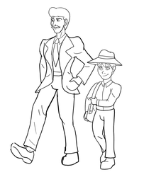 Lost in Dinosaur World WIP - Father and Son by Troyodon