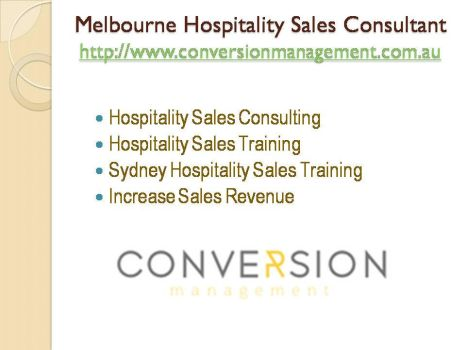 Melbourne Hospitality Sales Consultant by conversionmanagement