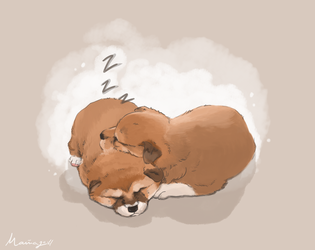 Shiba Puppies by Rimfrost