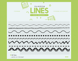.random lines | brushes #1 by itsvenue