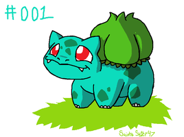 #001 Bulbasaur by SaintsSister47