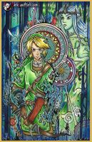 The Legend of Zelda ~ Traditional by MarieJaneWorks