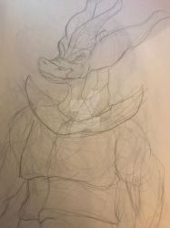 (Sketch) Dragonborn by DeathChallenged