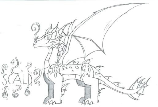 Scald the water dragon by Viperwings