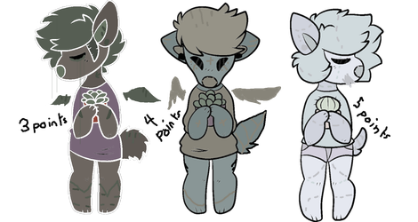 Mixed Price Doggo Adopts #1 (Closed) by creamcrowne-adopts
