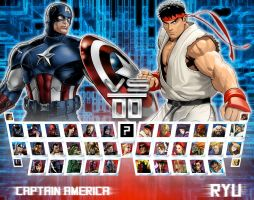 Avengers vs. Street Fighter by genius-spirit
