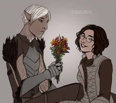 DA: Little Something {Fenris/Cadash} [Commission] by LadyTheirin