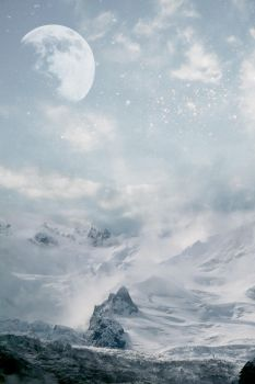 Premade Winter Landscape by paranoidstock