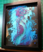 Layered Mermaid PAPER CUTTING by Snowboardleopard