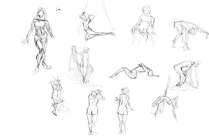 Two Minute Gesture Drawing by pcenero