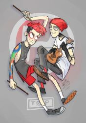 twenty one pilots - Tyler Joseph and Josh Dun by dragon-flies