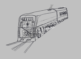 Two Track Monster by dinodanthetrainman