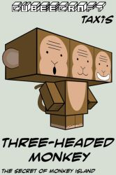 Cubee - Three-headed Monkey by TaxisFlashDude
