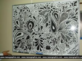 my doodles on a white board by razangraphics