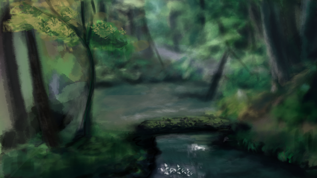 Forest Speedpaint by sannahikari