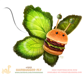 Daily Paint 1892# Hambugger-fly by Cryptid-Creations
