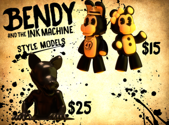 Bendy Style Model Commissions by KaylinYGO