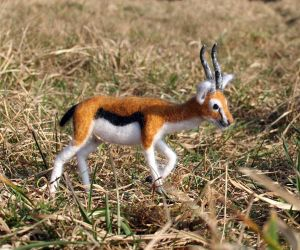 Poseable Needle Felted Gazelle by Sofakitty