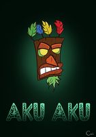Aku Aku Illustration by zroxaszz