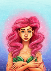 Pink Mermaid by Merina-Sky