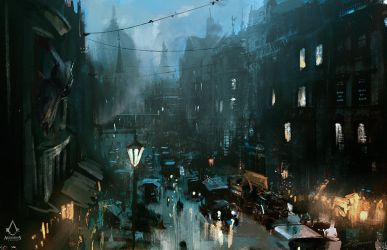 Assassin's Creed: Syndicate Street View-sketch by daRoz