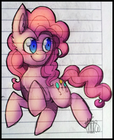 Pinkie on lined paper by xNIR0x