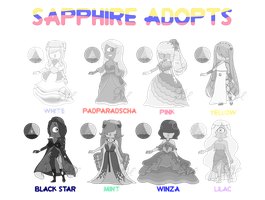 Sapphire Adopts - CLOSED by OriSODEhime