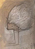 Hedge Animal, Stilted ACEO by SethFitts