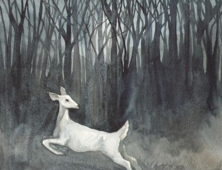 Ghost Doe by bluedogrose
