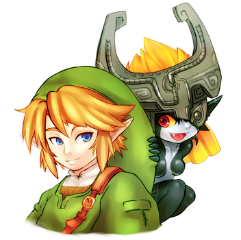 Link and Midna~ by CheloStracks