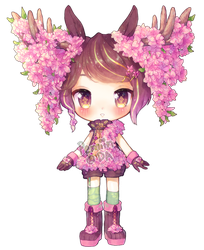 Day 7 - Cheal's weeping cherry - Moose by Yamio