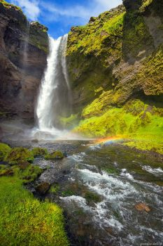 Kvernufoss Rainbow by Dave-Derbis