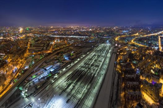 Railroad cargo station by dack99