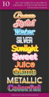 Set of Various Colorful Graphic Styles for Design by Love-Kay