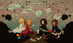 Led Zeppelin in Japonisme by wasawasawa