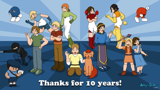 AmysGames 10 Year Anniversary by The-Legendary-Female