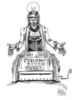 Jesusbot 3000 by OuthouseCartoons