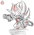NEVER GIVE UP Shadow the hedgehog by shadowhatesomochao