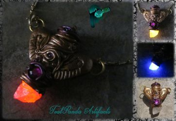 Cicada-wing Glowing Quartz Necklace by TealpandaArtifacts