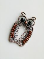 Wire wrapped Owl pendant by SilverDeFactory