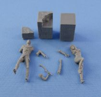 Resin Castings of Beneath the Piramyd scene by Michael-XIII