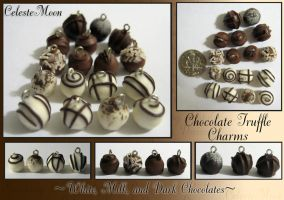 Chocolate Truffle Charms by CelesteMoon