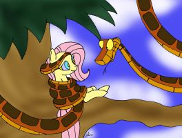 Kaa's Cute Catch Painted by lol20