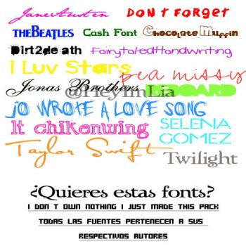 Fonts Pack by HeyImLia