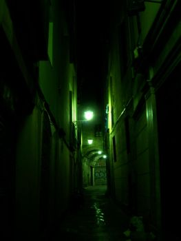 dark alley in Barcelona by galleryofcynthia