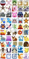 PokeMonster Hunter Icons 3 by Gryphon-Shifter