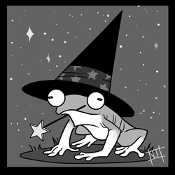 Frog witch by Damella