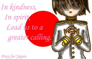 Pray for Japan by lillilotus