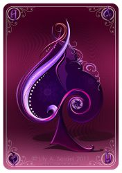 Ace of Spades Card by Lilyas